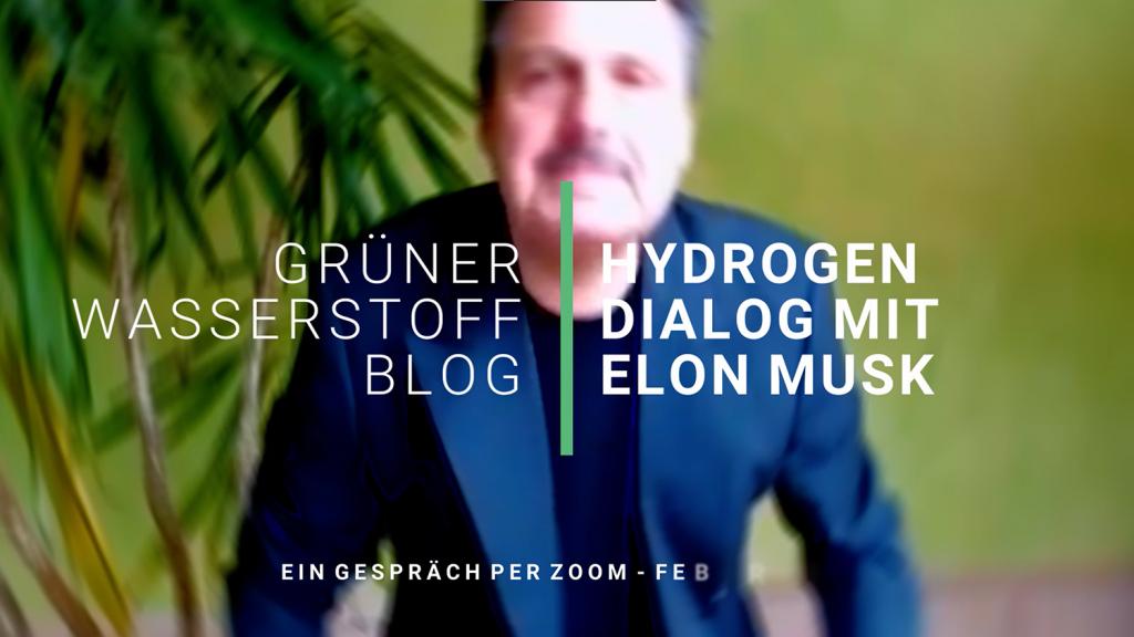 Elon Musk von Tesla im offenen Dialog zum Thema Grüner Wasserstoff